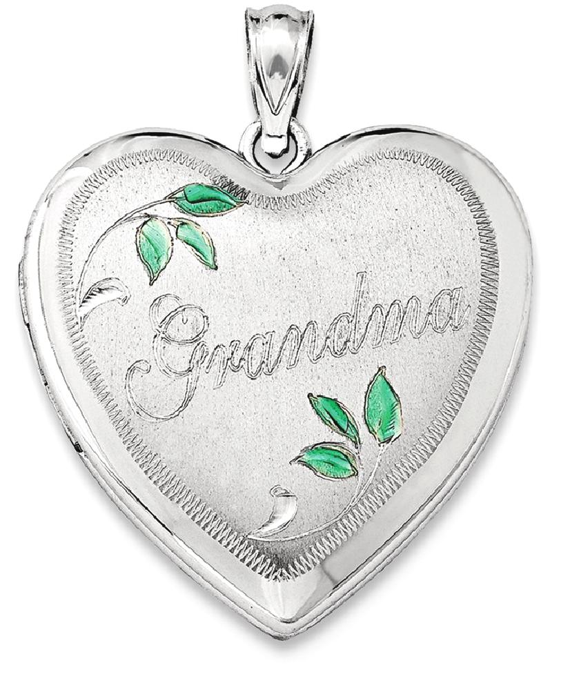 ICE CARATS 925 Sterling Silver 24mm Grandma Heart Photo Pendant Charm Locket Chain Necklace That Holds Pictures Fine... by IceCarats Designer Jewelry Gift USA