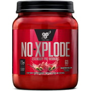 BSN N.O. Xplode Pre-Workout Supplement with Creatine, Beta-Alanine, and Energy, Watermelon, 60 Servings