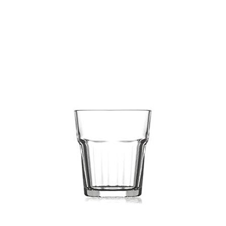 (Pasabahce ARA233Z, 10 1/4 oz Old Fashioned Whisky Glass, Brandy Whiskey Tumblers, Scotch Glasses with Heavy Base, Set of 6)