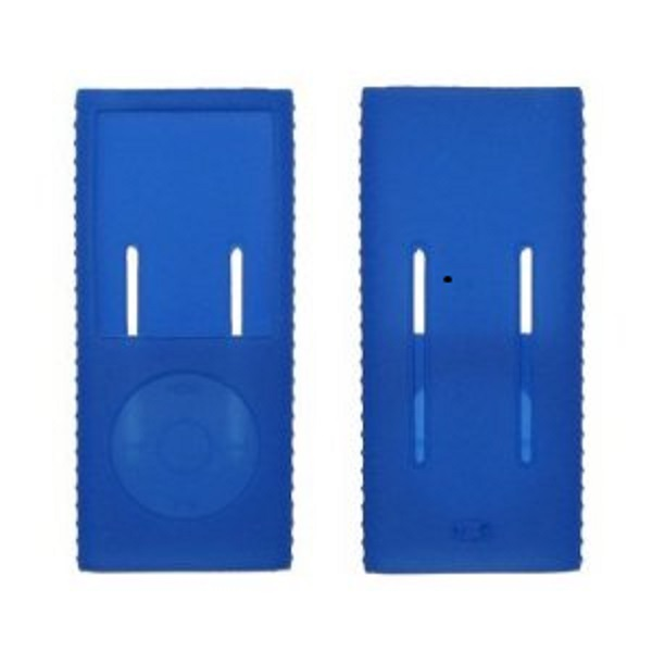 Blue Silicone Gel Skin Cover Case for Apple iPod Nano Cromatic 8GB 16GB [Accessory Export Brand]