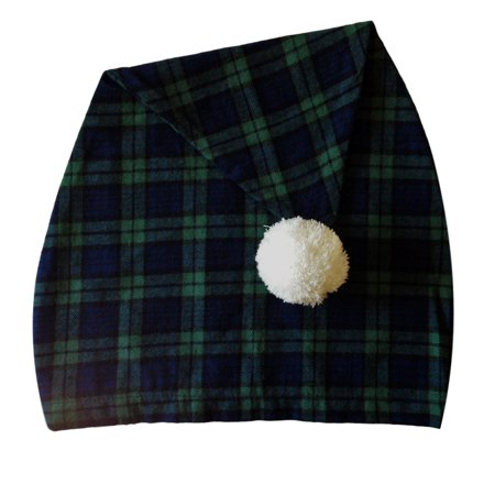 Lee Valley, Ireland - Men's Night Cap (Green Tartan) - Dark Bald Cap