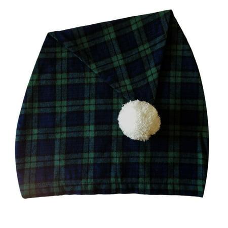Lee T-shirt Hat - Lee Valley, Ireland - Men's Night Cap (Green Tartan)
