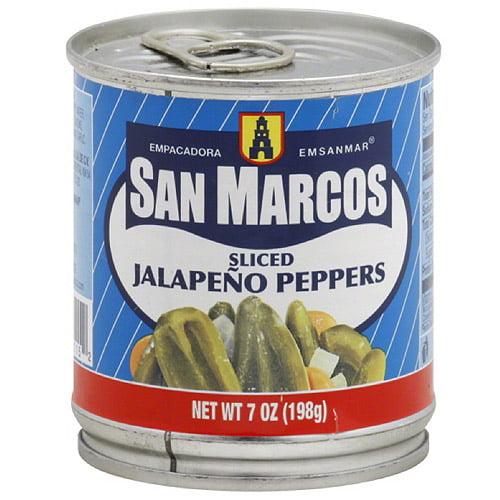 Empacadora San Marcos Sliced Jalapeno Peppers, 7 oz (Pack of 12)
