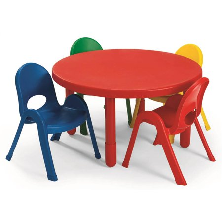5-Pc MyValue Round Toddler Table and Chair Set (28 in. Dia. x 12 in. H (8