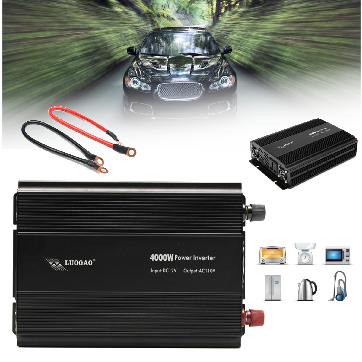 4000w 8000w Peak Modified Sine Wave Power Inverter Dc 12v To Ac 110v Design Code For Converter