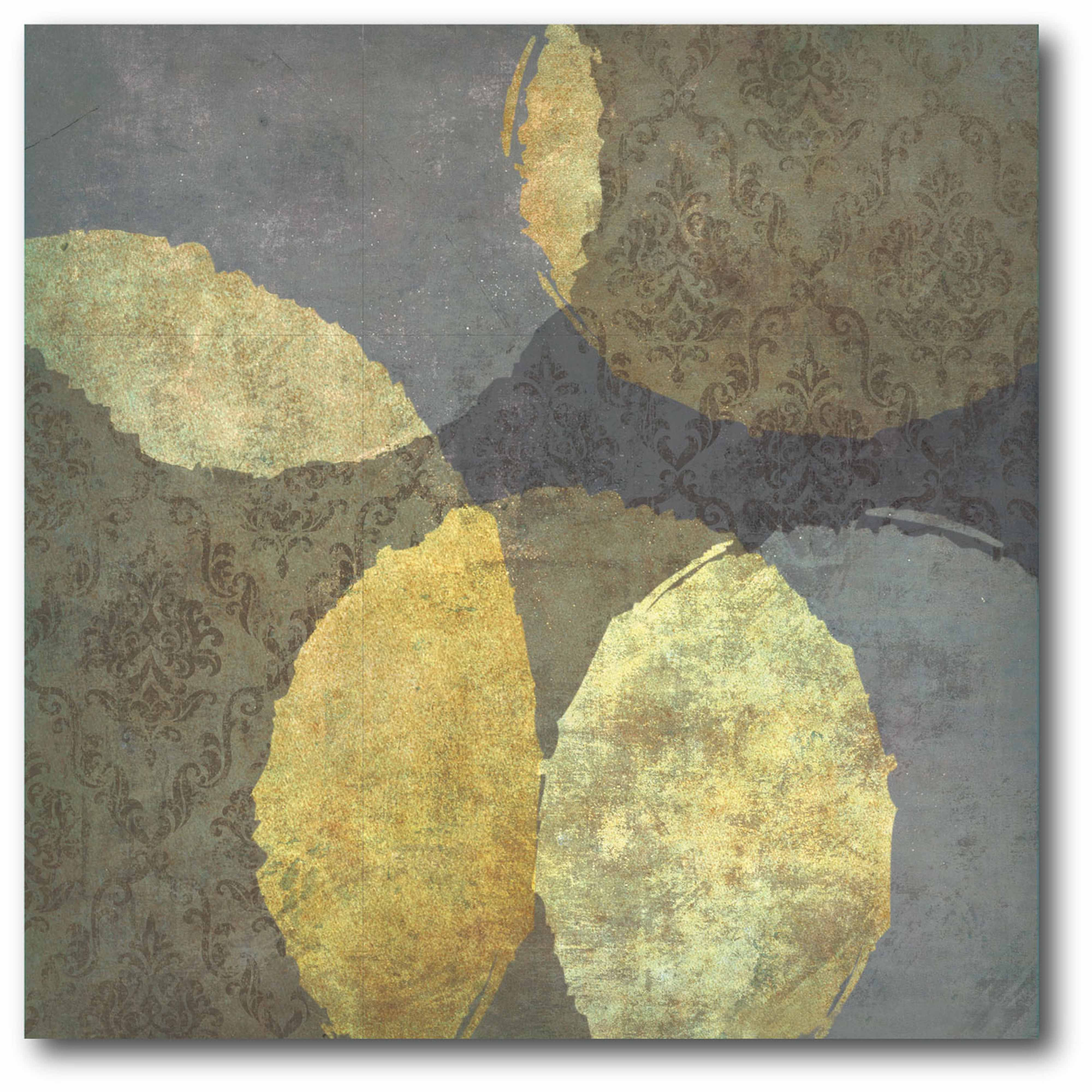 Gray-Gold Gallery-Wrapped Canvas Wall Art, 16x16