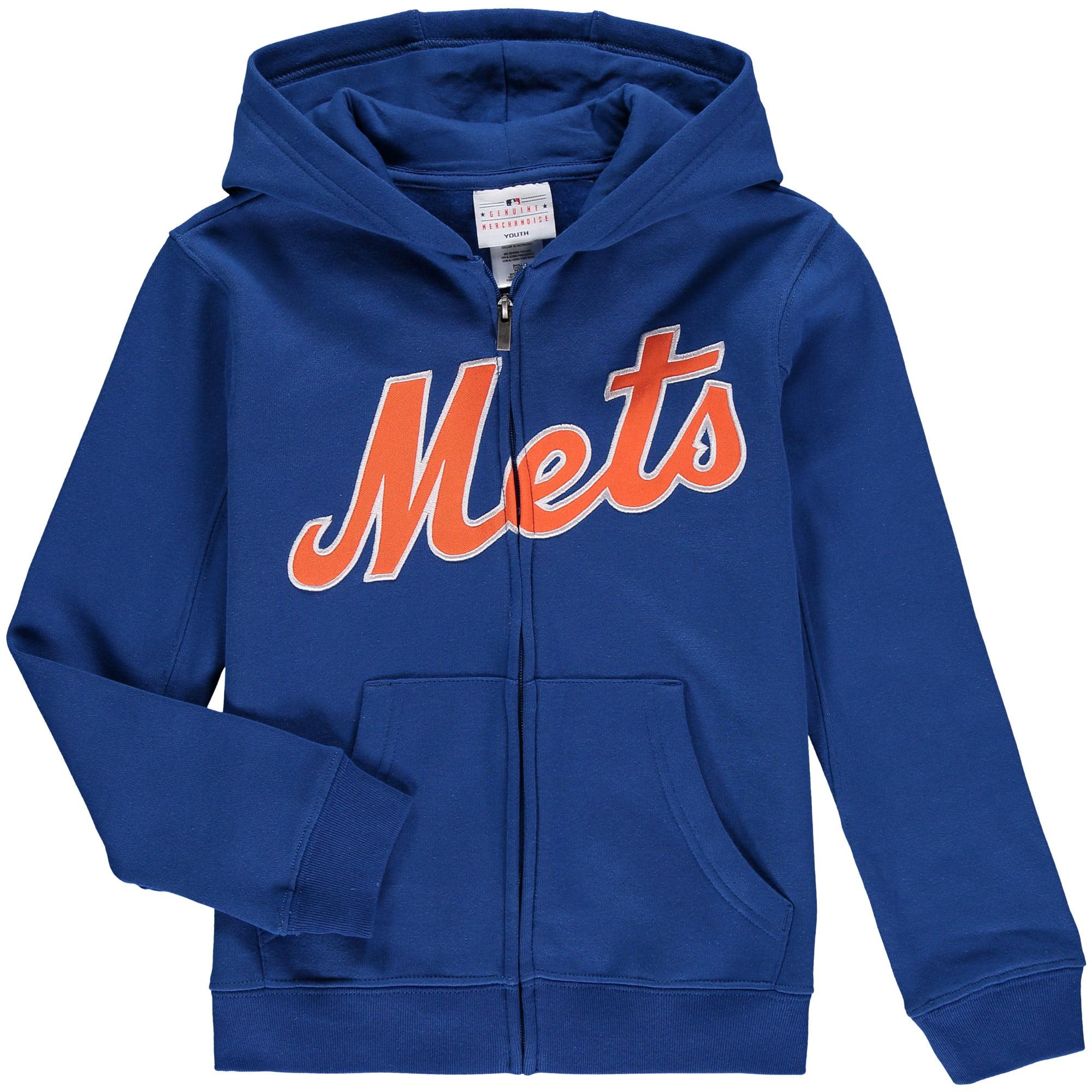 big sale 33c8c a4d49 New York Mets Youth Wordmark Full-Zip Hoodie - Royal