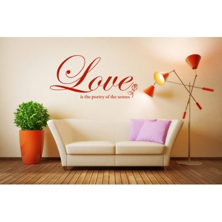 Love is the Poetry of the Senses Wall Decal Wall Sticker Vinyl Wall Ar