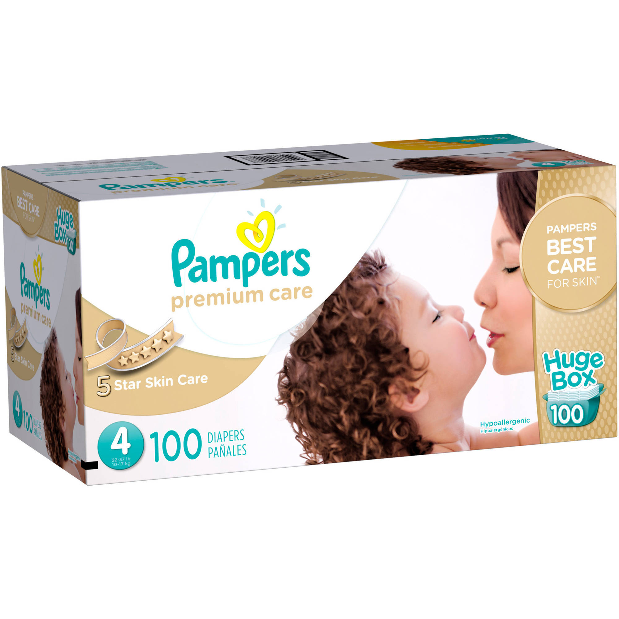 Pampers Premium Care Disposable Diapers, Size 4 (Choose Diaper Count)