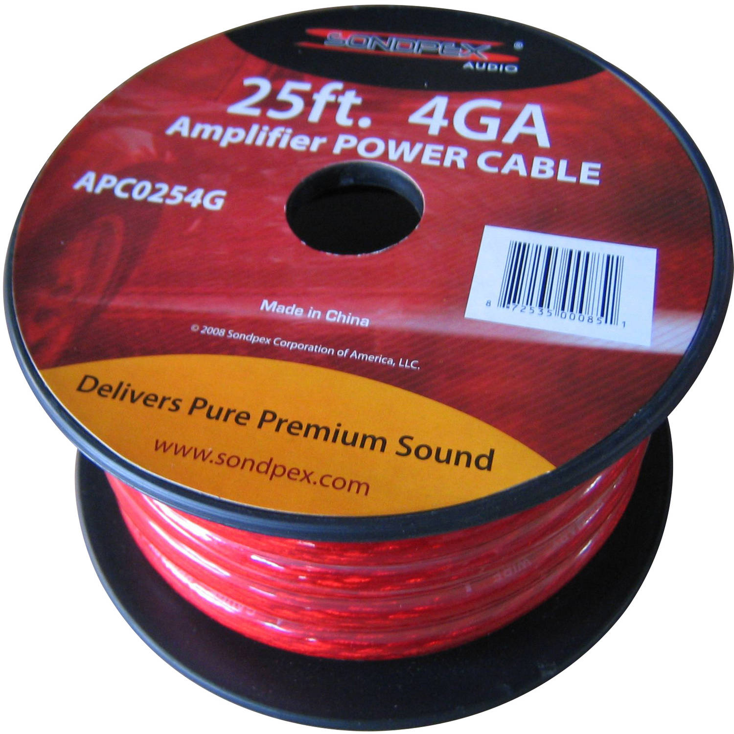 4GA 25' Amplifier Power Cable