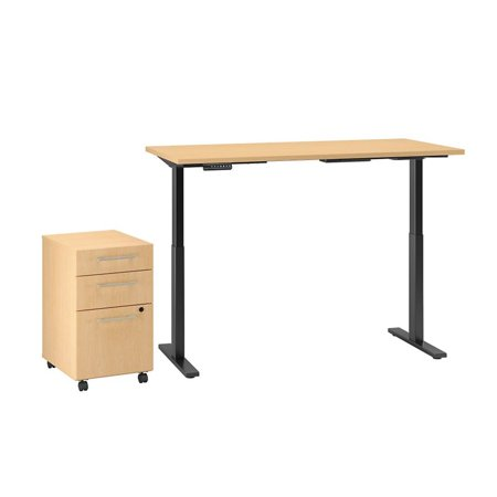 Move 60 Series Height Adjustable Standing Desk with Storage in Maple - image 7 of 7