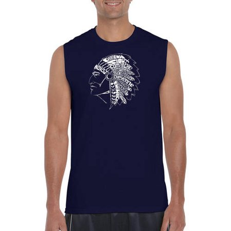 47f2cbd807 Men's sleeveless t-shirt - popular native American Indian tribes