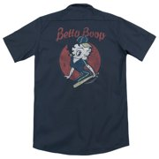 Betty Boop Team Boop (Back Print) Mens Work Shirt