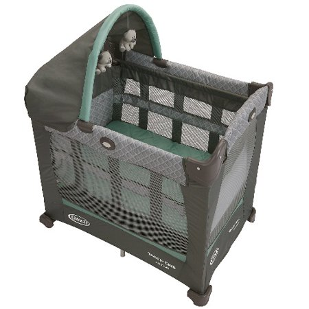 Graco Travel Lite Baby Crib & Portable Playard, Manor (Graco Crib Screws)