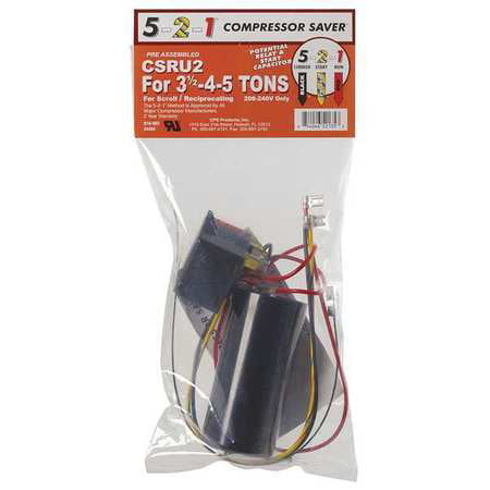 5-2-1 Compressor Saver CSRU2 3.5-4-5 tons A/C Units Hard Start Kit