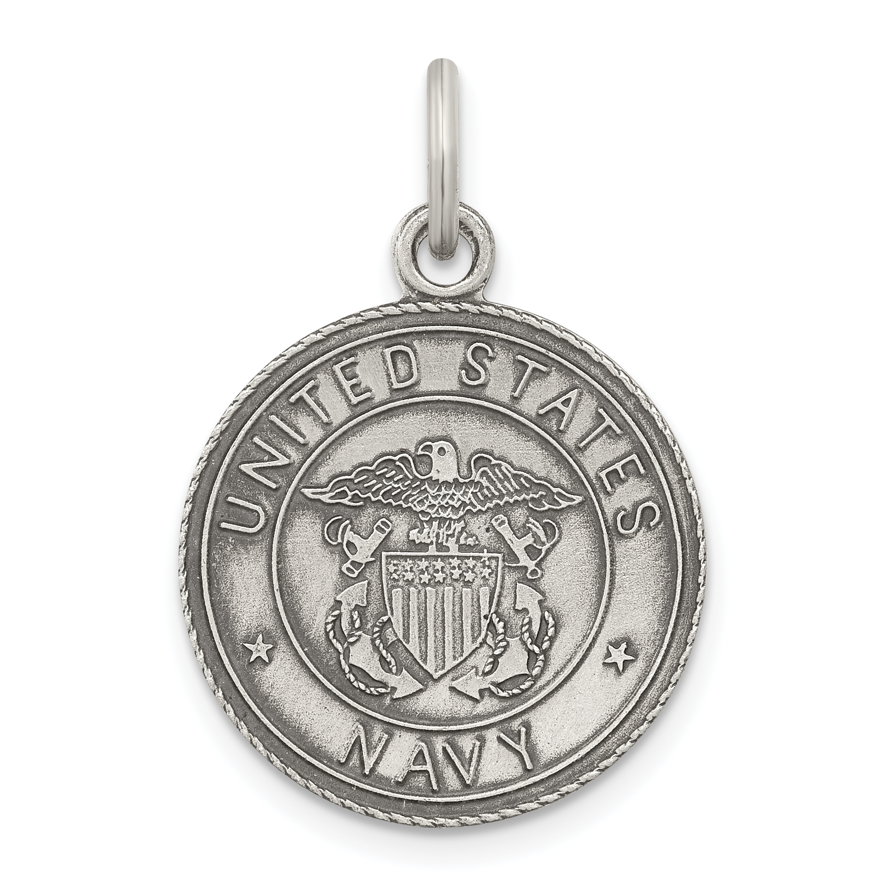 925 Sterling Silver Us Navy Medal Pendant Charm Necklace Military Religious Patron Saint St Christopher Fine Jewelry Gifts For Women For Her - image 2 de 2