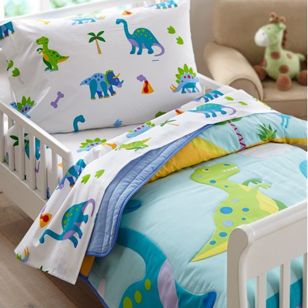 Olive Kids Dinosaur Land Toddler Bedding Sheet Set (Kids Toddler Sheet Set)