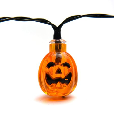 30 LED Solar Pumpkin Outdoor String Lights for Halloween Decorations