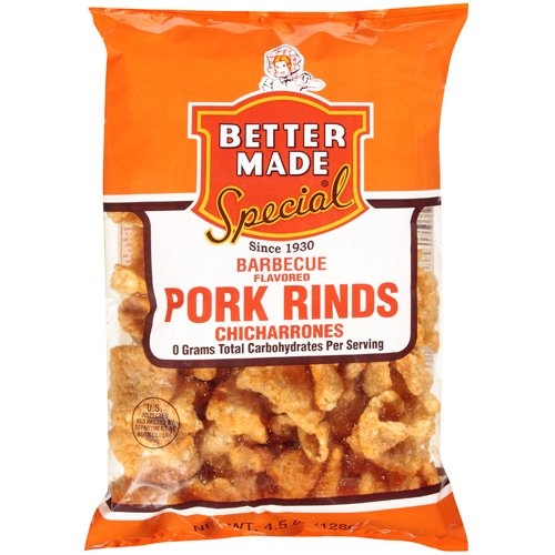 Better Made Special Barbecue Flavored Chicharrones Pork Rinds, 4.5 oz