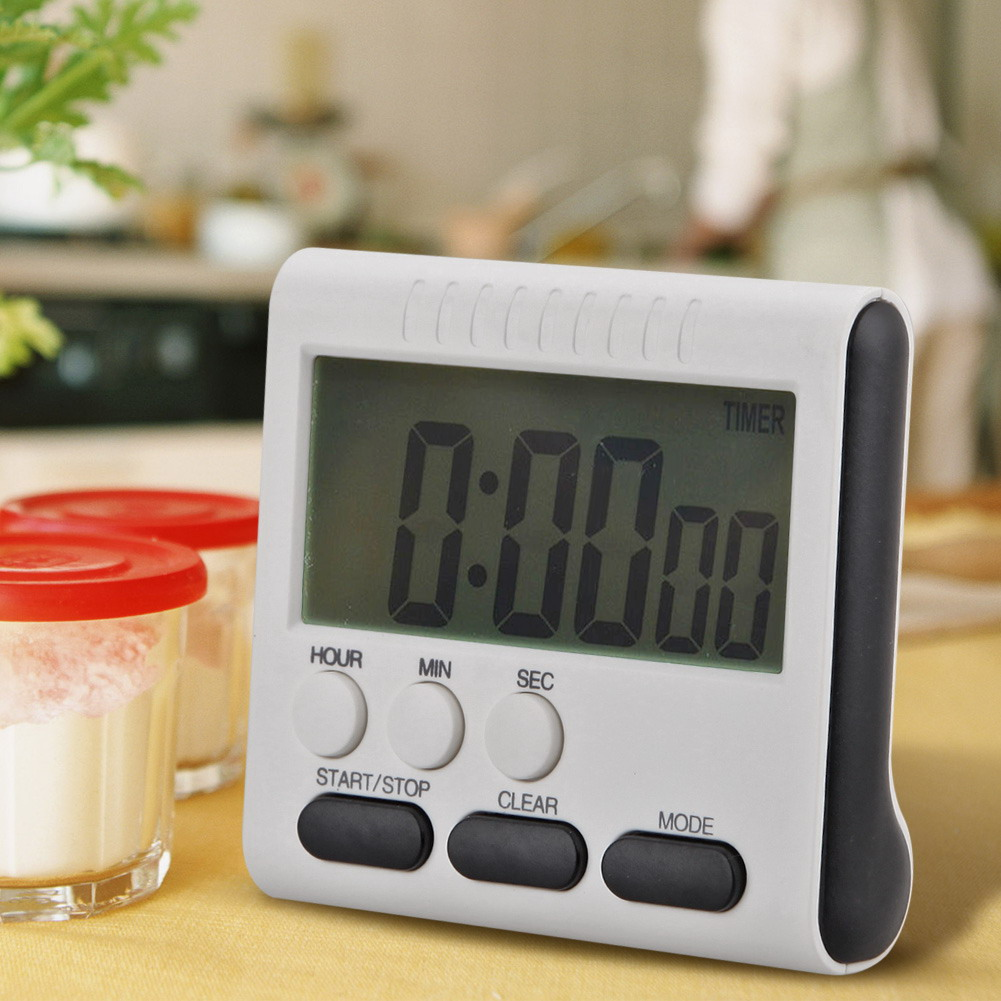 Multifunction Large LCD Digital Kitchen Timer Alarm Count Up Down Clock 24 Hours