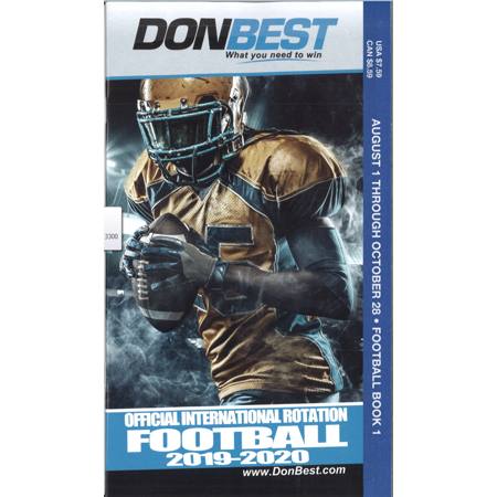 DON BEST FOOTBALL ROTATION SCHEDULE BOOK ONE (Best Place To Sit In A Football Stadium)