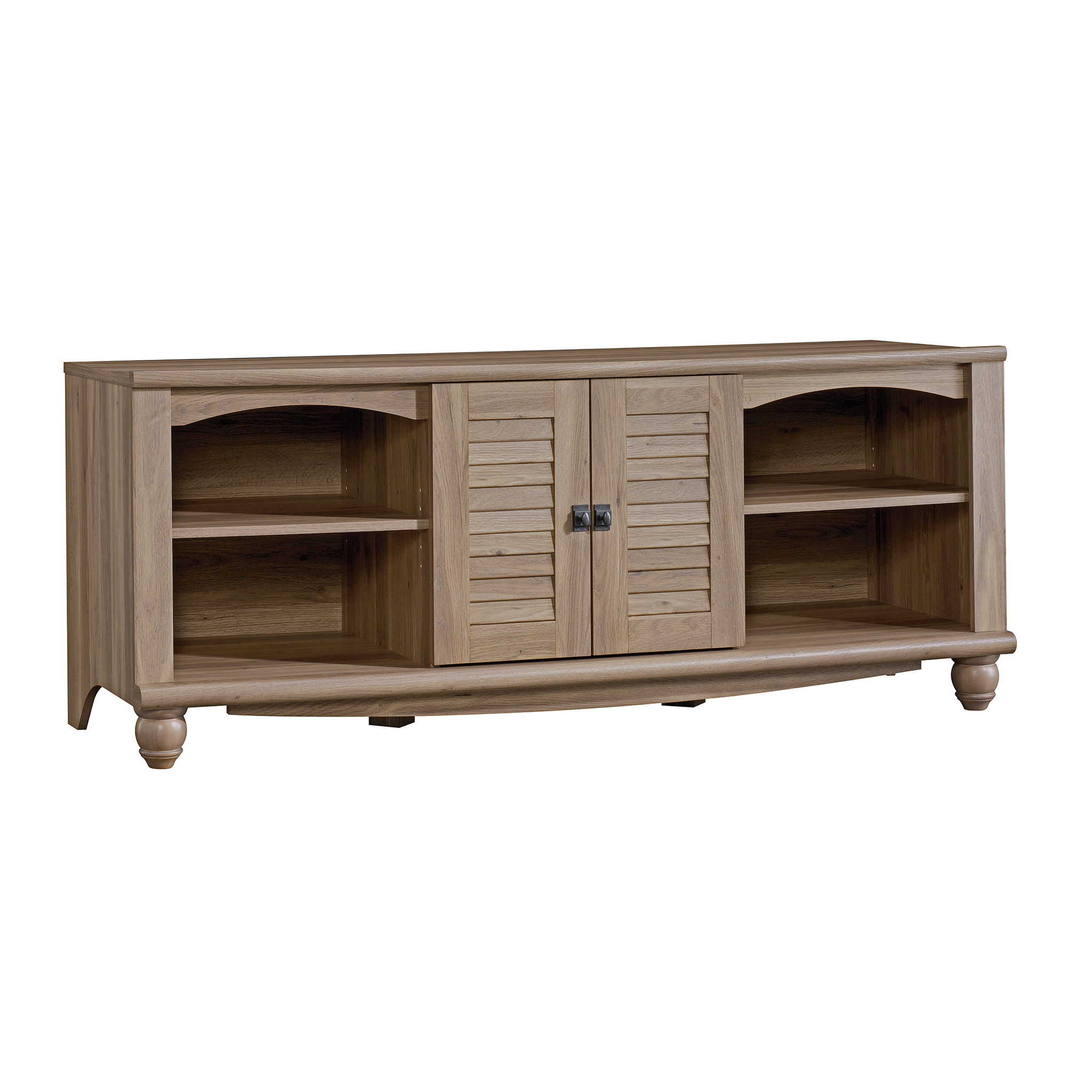 "Sauder Harbor View Entertainment Credenza for TVs up to 60"", Salt Oak Finish"