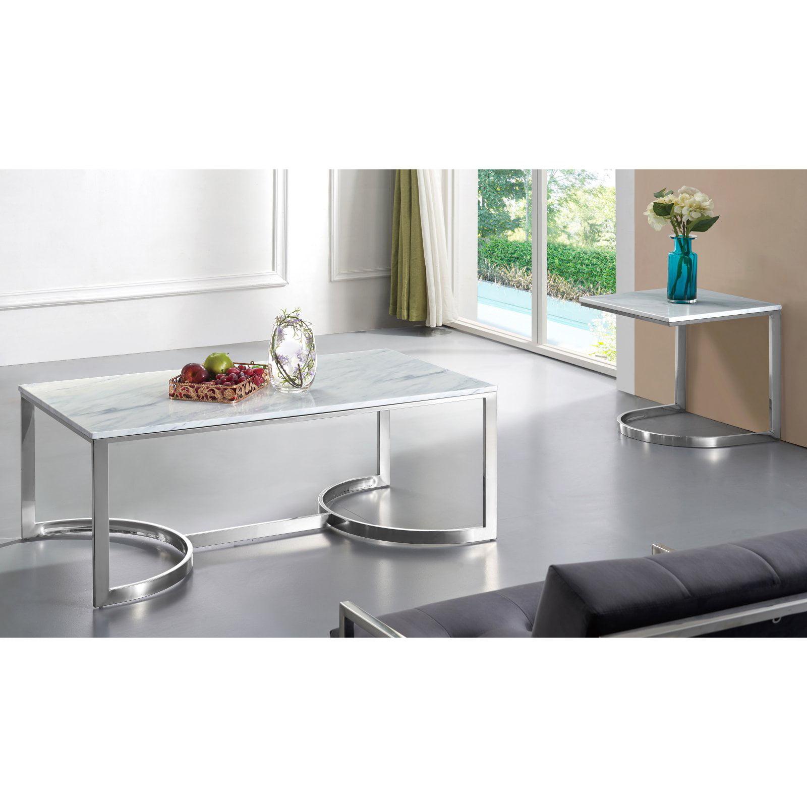 Meridian Furniture Inc Copley Chrome Coffee table