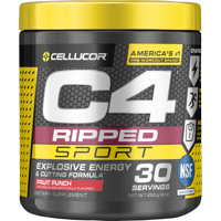 Cellucor C4 Ripped Sport Pre Workout Powder, Fruit Punch, 30 Servings