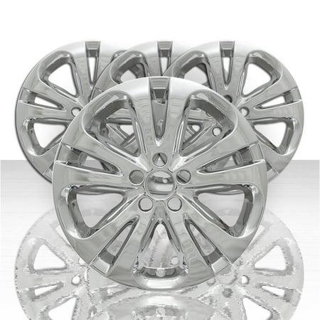 """Set of 4 17"""" 5 Double Spoke Wheel Skins for 2015-2016 Chrysler 200 - Chrome"""