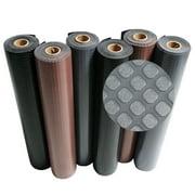 """Rubber-Cal """"Block-Grip"""" Rubber Flooring Rolls - 2 mm x 4 ft x 4 ft Rubber Rolls - Black"""