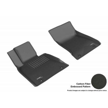 3D MAXpider 2017-2018 Genesis G80 Kagu 1st Row Black Carbon Fiber Embossed Pattern Floor Mat L1HY06111509