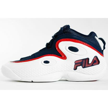Men's Fila 97 Grant Hill Retro Basketball 1VB90113 127 WhiteFila NavyFila Red