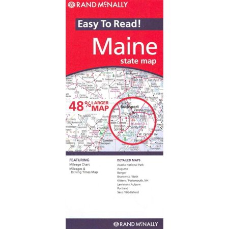 Rand mcnally easy to read!: rand mcnally maine state map (other):