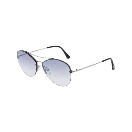 - Tom Ford Women's Mirrored Margret FT0566-18C-60 Silver Butterfly Sunglasses