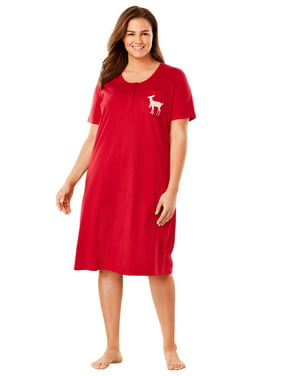 Womens Plus Nightshirts   Gowns - Walmart.com b8111cd568