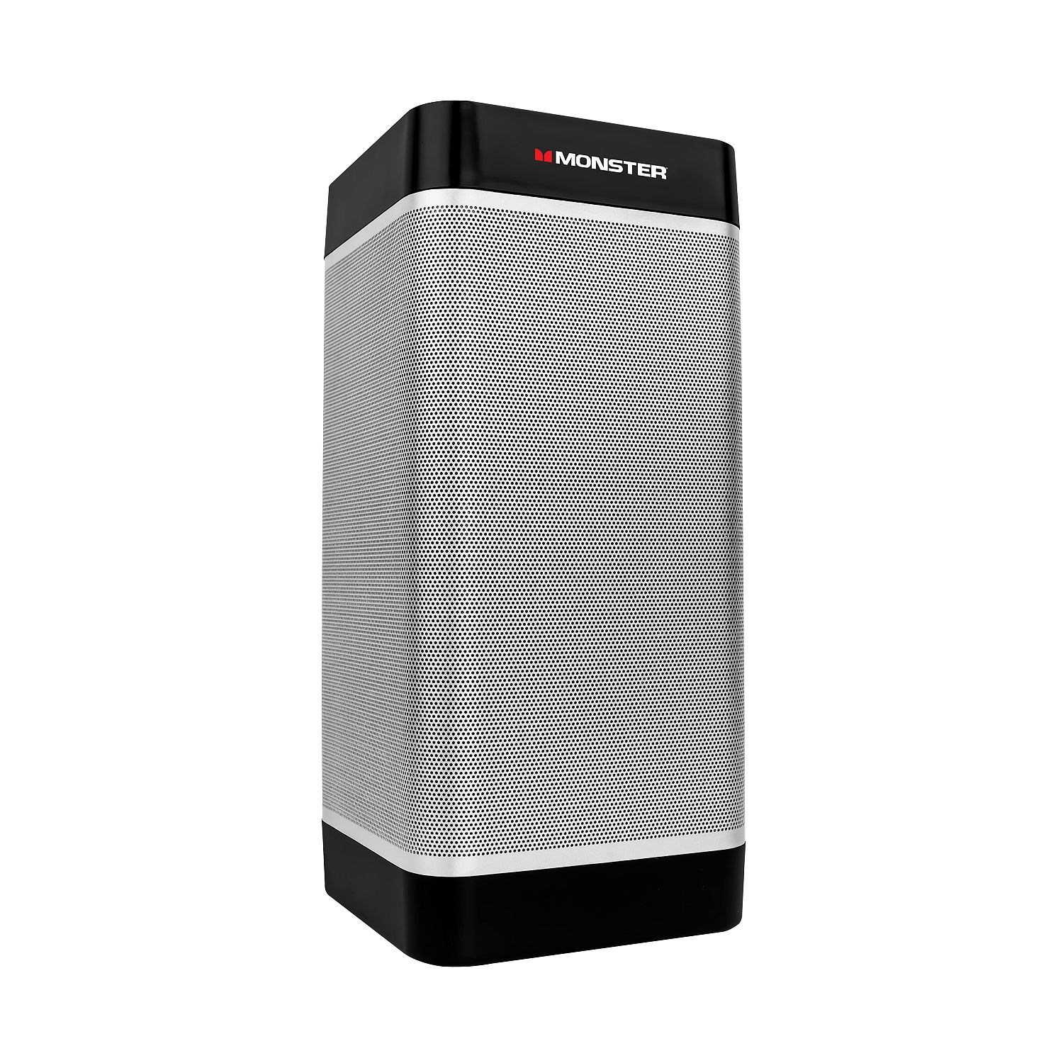 Monster Tower of Music Portable Speaker with 3-Way Speakers, Silver (New )
