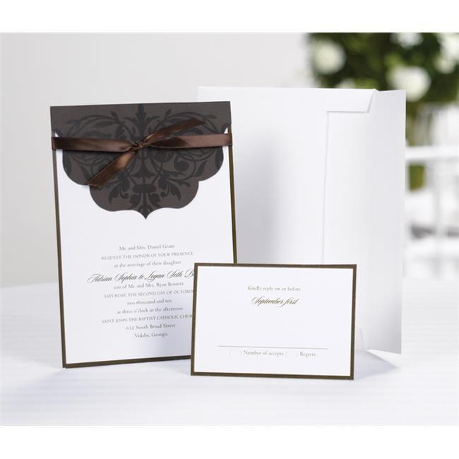 Hortense B.  Hewitt 10725 Scalloped Top Wrap Invitation Kit