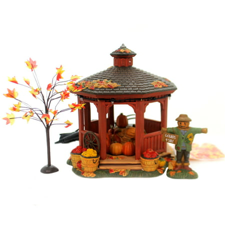Department 56 House HARVEST GAZEBO BOX SET Ceramic Halloween 6000664