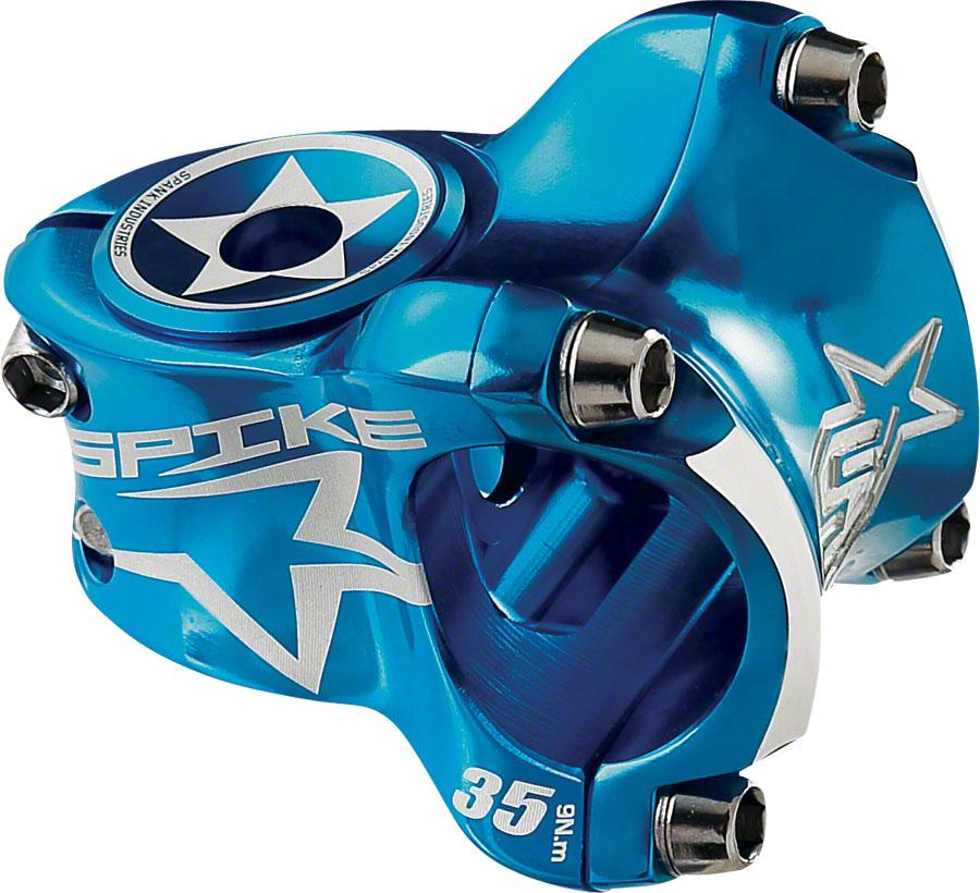 Spank Spike Race Stem 35mm Length, 31.8 Bar Clamp, Blue
