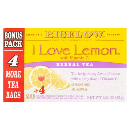 Bigelow® I Love Lemon® with Vitamin C Herbal Tea 1.28 oz. Box for $<!---->
