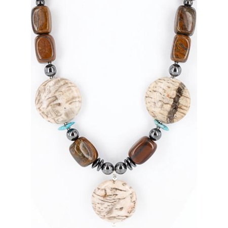 Certified Authentic Navajo .925 Sterling Silver Natural Tigers Eye Jasper Hematite Native American Necklace