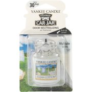 Yankee Candle Ultimate Car Jar Clean Cotton Air Freshener