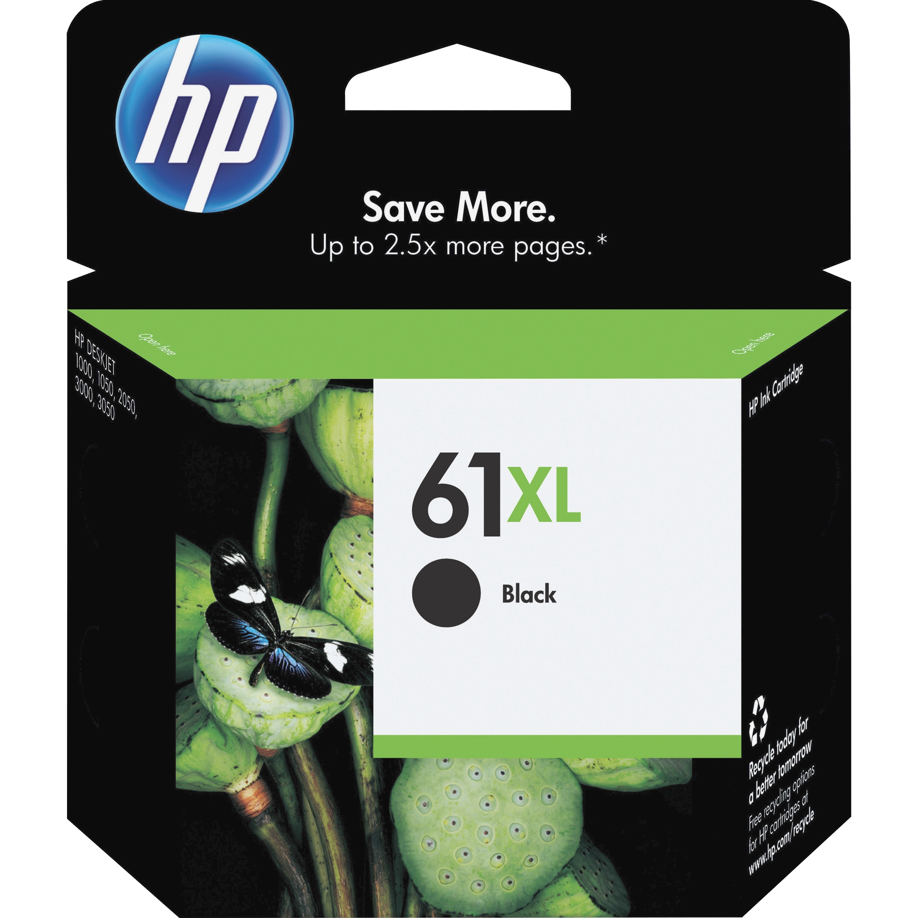 HP 61XL Black High Yield Original Ink Cartridge (CH563WN)