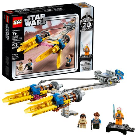 LEGO Star Wars 20th Anniversary Edition Anakin's Podracer Vehicle Building Set 75258