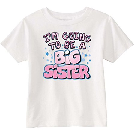 Lil Shirts Little Girls I'm Going to Be A Big Sister Toddler Graphic (Mama Im A Big Girl Now Sheet Music)