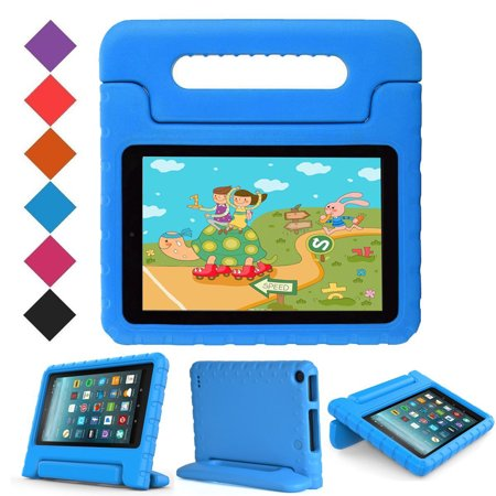Uucovers Kids Case For All New Fire 7 2017 Case   Light Weight Shock Proof Handle Kid Proof Cover Kids Case For All New Fire 7 Tablet  7Th Generation  2017 Release   Blue