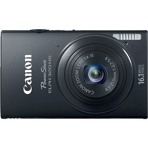 "Canon PowerShot ELPH 320 HS Black 16.1MP Digital Camera w/ 5x Optical Zoom, 3.2"" LCD Display, Built-in WiFi"