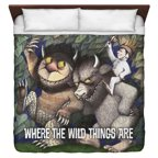 Where The Wild Things Are Wild Rumpus Dance King Duvet Cover White 104X88