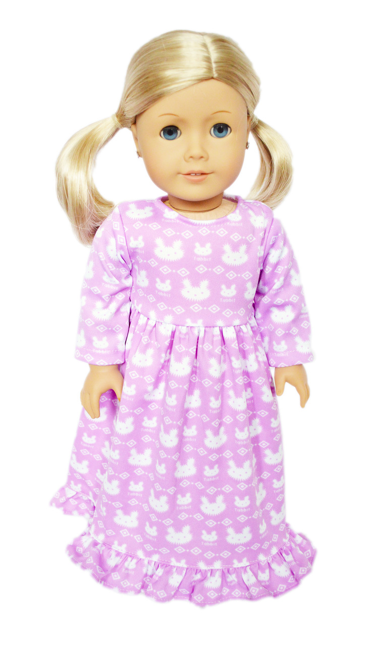 My Brittany's Lavender Bunny Nightgown for American Girl Dolls-Doll Clothes for American... by