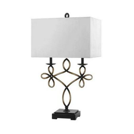 Cal Lighting BO-2270TB Norwalk Resin / Metal Table Lamp ()